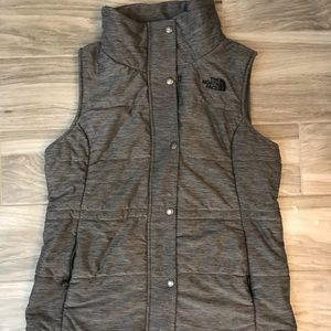 Like new women's North face grey vest size M
